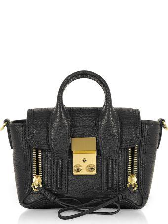 3.1 Phillip Lim Black Leather Pashli Nano Satchel Bag