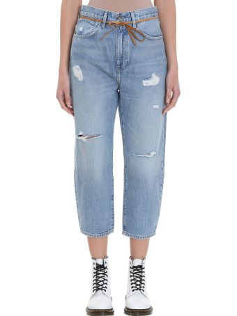 Levi's Barrel Crop Light Blue Jeans