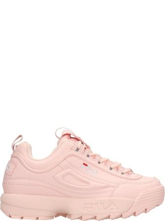 Fila Distruptor Low Pink Leather Sneakrs
