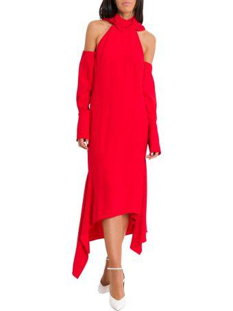 MONSE T-neck Drape Hem Dress