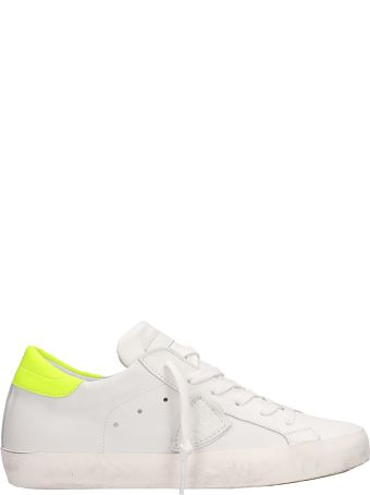 Philippe Model Paris White Yellow Fluo Sneakers