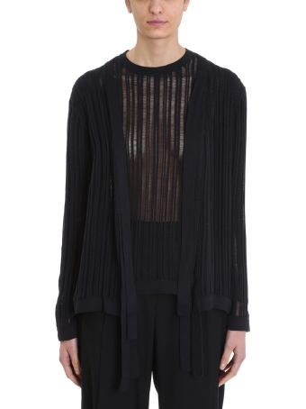 Maison Flaneur Knit Black Cotton Cardigan