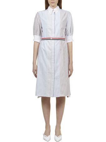 Thom Browne Striped Shirt Dress