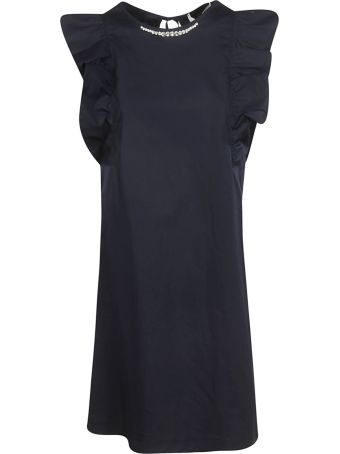Blugirl Ruffled Sleeve Short Dress