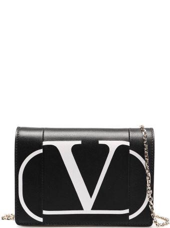 Valentino Garavani V Logo Print Shoulder Bag