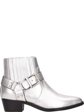 Bibi Lou Silver Leather Boots