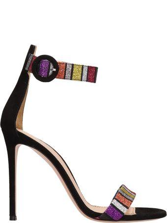 Lerre Multicolr Glitter Leather Sandals