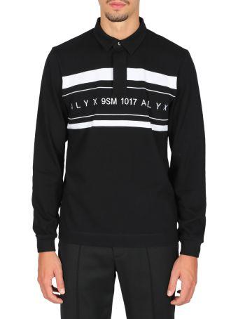 1017 ALYX 9SM L/s Striped Logo Polo