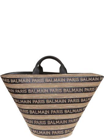 Balmain Logo All-over Tote