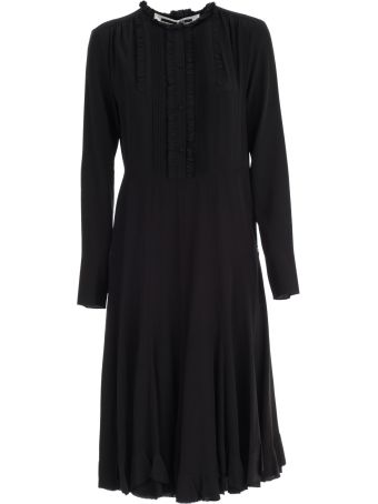 McQ Alexander McQueen Dress L/s Midi W/panel