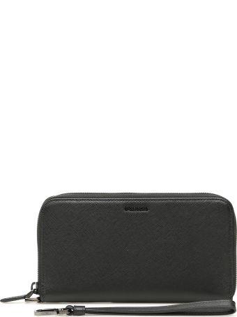 Prada Zip-around Wallet With Wristlet