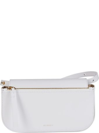 Ree Projects White Leather Belt Bag