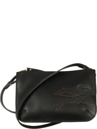 Longchamp Logo Patch Shoulder Bag