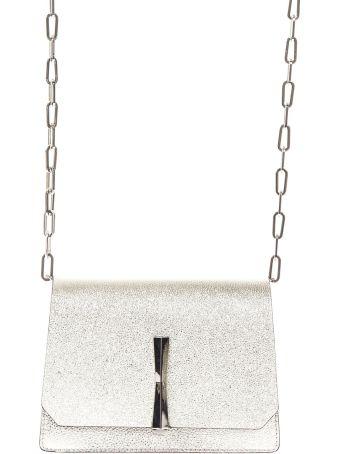 Gianni Chiarini Gold Laminated Leather Shoulder Bag