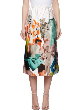 Marni Afrodite Print Tulip Skirt