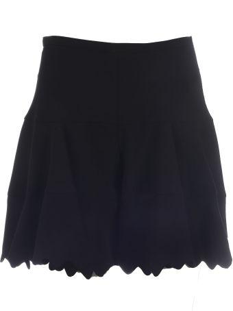 Chloé Scalloped Hem Mini Skirt