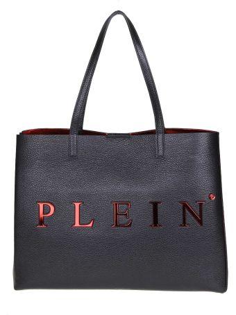 Philipp Plein Black Leather Handle Bag