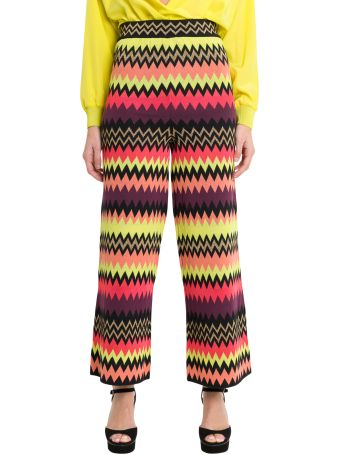 M Missoni Cropped Palazzo Trousers With Zigzag Motif