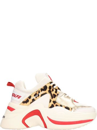 Naked Wolfe White Leather Track Sneakers