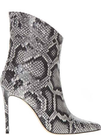 Aldo Castagna Ankle Boot In Pythoned Grey Leather
