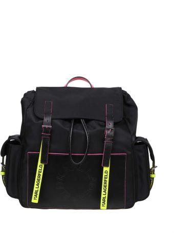 Karl Lagerfeld Backpack K / Neon Color Black