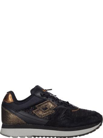 Lotto Tokio Wedge Black Sneakers