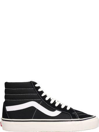 Vans Sk8 Hi 38dx Grey Black Suede And Fabric Sneakers
