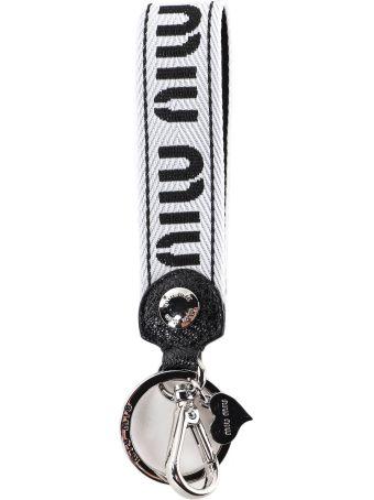 Miu Miu Madras Sport Key Holder