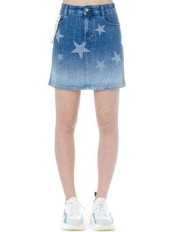 Stella McCartney Denim Stars Miniskirt