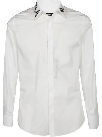 Dolce & Gabbana Logo Patched Collar Shirt