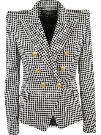 Balmain Six-button Houndstooth Jacket