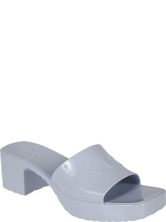 Gucci Embossed Logo Sandals