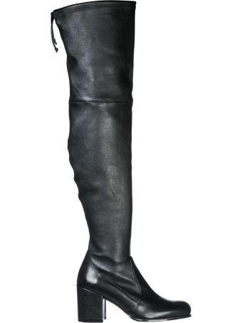 Stuart Weitzman  Leather Heel Boots