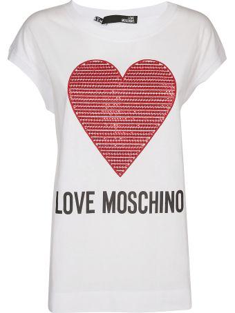 Love Moschino Embroidered Heart Shirt