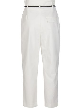 3.1 Phillip Lim White Cotton Blend Trousers