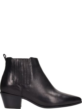 The Seller Black Leather Ankle Boots