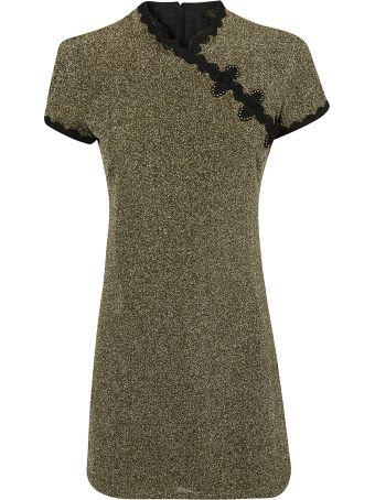 De La Vali Metallic Detail Kimono Dress