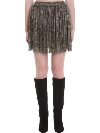 Isabel Marant Étoile Benedicte Skirt In Gold Polyester