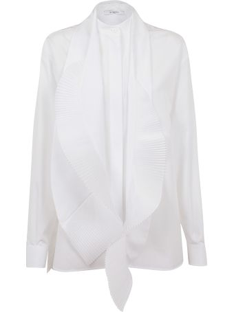 Givenchy Pleated Scarf Detail Shirt