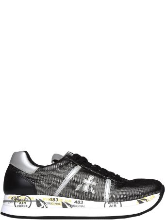 Premiata Conny 3342 Black And Nickel Sneakers