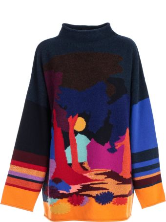 Paul Smith Intarsia Wide Neck Sweater