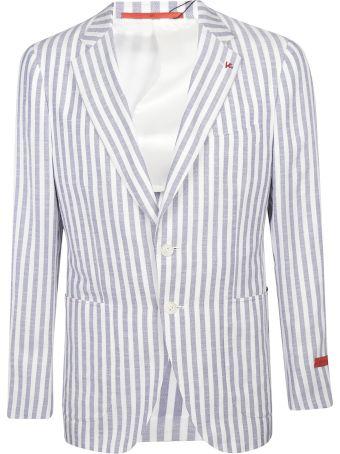 Isaia Striped Tailored Jacket