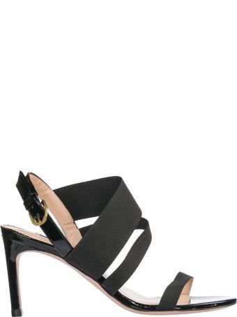 Stuart Weitzman  Leather Heel Sandals Adrienne