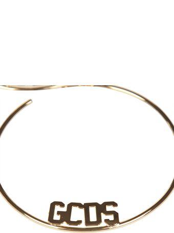GCDS Logo Plaque Earrings