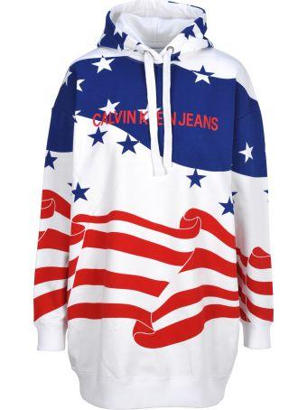 Calvin Klein Jeans Flag Hoddie Dress