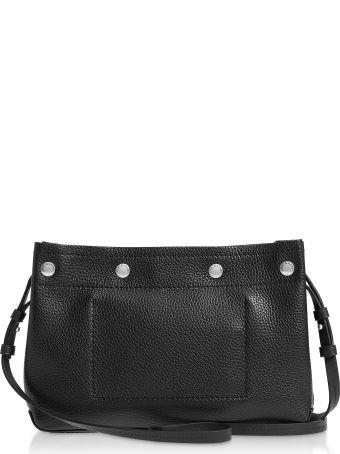 Rag & Bone Black Leather Compass Snap Crossbody Bag