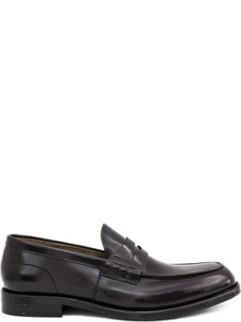 Green George Brown Leather Penny Loafer.