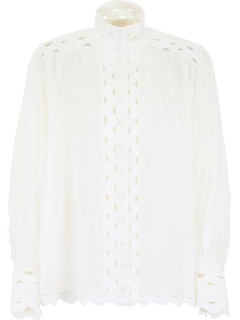 Zimmermann Shirt With Wave Embroidery