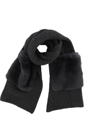 Woolrich Scarf With Fur Pockets