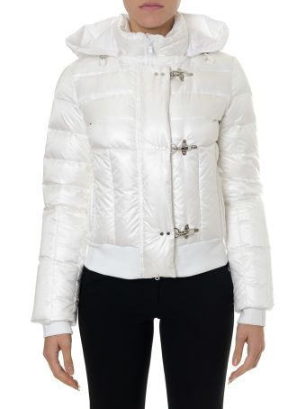 Fay White Jacket In Polyamide